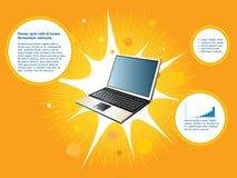 Achtergrond laptop Stock Foto