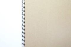 Lege het notitieboekje van het gezichts Witboek royalty-vrije stock fotografie