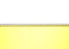 Lege het notitieboekje van het gezichts Witboek royalty-vrije stock afbeeldingen