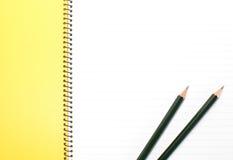 Lege het notitieboekje van het gezichts Witboek royalty-vrije stock foto