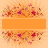 Achtergrond, lelie en vlinder Royalty-vrije Stock Afbeelding