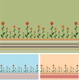 Achtergrond lijnen en bloemen Stock Foto