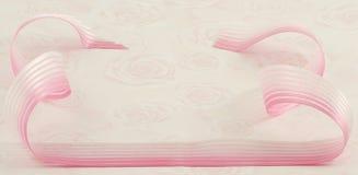 Achtergrond, lint en rozen Stock Fotografie