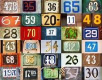 Achtergrond met aantallen Stock Foto's