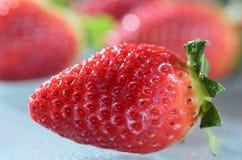 Achtergrond met aardbeien Stock Afbeeldingen
