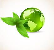 Achtergrond met aarde en bladeren Royalty-vrije Stock Foto