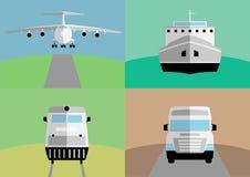 Achtergrond met abstract vrachtvervoer Royalty-vrije Stock Afbeeldingen