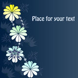 Achtergrond met abstracte Bloemen met uw tekst Stock Afbeelding