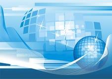 Achtergrond met abstracte Bol. vector illustratie