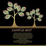 Achtergrond met abstracte grungeboom. Royalty-vrije Stock Fotografie