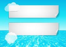 Achtergrond met abstracte oceaaneind blauwe hemel Royalty-vrije Stock Afbeelding