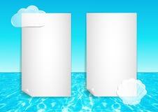 Achtergrond met abstracte oceaaneind blauwe hemel Royalty-vrije Stock Afbeeldingen