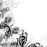 Achtergrond met abstracte vlinders Stock Foto