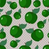Achtergrond met appelen Stock Afbeeldingen