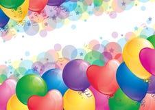Achtergrond met ballons royalty-vrije illustratie