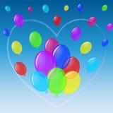 Achtergrond met ballons Stock Fotografie