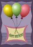 Achtergrond met ballons Stock Foto's