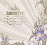 Achtergrond met banner voor uw tekst Stock Afbeelding