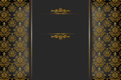 Achtergrond met barok ornament en plaats voor tekst Stock Foto's