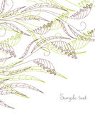 Achtergrond met bladeren en bessen Stock Afbeeldingen