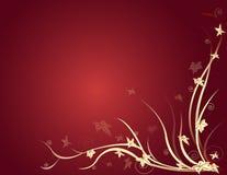 Achtergrond met bladeren op radiale rug Royalty-vrije Stock Foto
