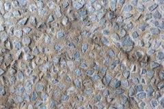 Achtergrond met blauwe uitstekende stenenmuur Royalty-vrije Stock Afbeeldingen