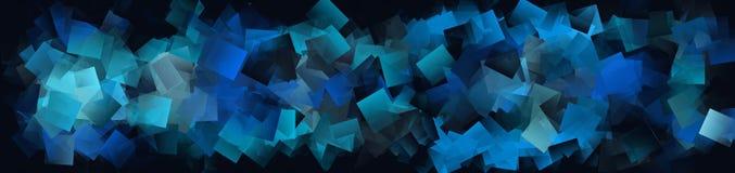 Achtergrond met blauwe vierkanten Royalty-vrije Stock Afbeeldingen
