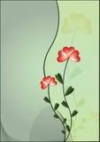 Achtergrond met bloem royalty-vrije illustratie