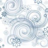 Achtergrond met bloem Stock Afbeelding