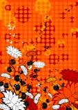 Achtergrond met bloem, vector Royalty-vrije Stock Fotografie