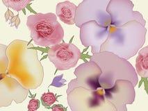 Achtergrond met bloemen Royalty-vrije Stock Foto's