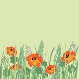 Achtergrond met bloemen Stock Foto's