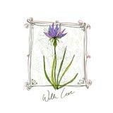 Achtergrond met bloemen stock illustratie