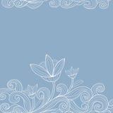 Achtergrond met bloemen vector illustratie