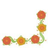 Achtergrond met bloemen Royalty-vrije Stock Afbeeldingen