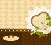 Achtergrond met bloemen en ornamenten Royalty-vrije Stock Afbeeldingen