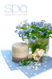 Achtergrond met bloemen. kuuroord Royalty-vrije Stock Foto's