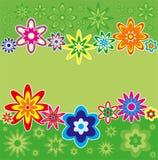 Achtergrond met bloemen, vector Stock Afbeelding