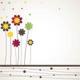 Achtergrond met bloemen. Vector illustratie Stock Foto's