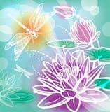 Achtergrond met bloemenlotusbloem Royalty-vrije Stock Foto's