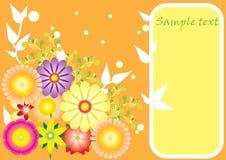 Achtergrond met bloemmotieven stock illustratie