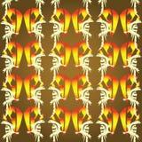 Achtergrond met brandvogels Stock Afbeeldingen