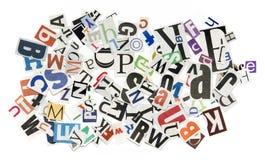 Achtergrond met brieven Royalty-vrije Stock Foto