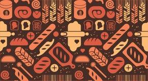 Achtergrond met broodsilhouetten Stock Fotografie