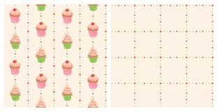 Achtergrond met cakes Stock Fotografie