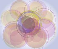 Achtergrond met Cirkels Stock Afbeelding