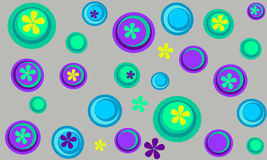 Achtergrond met Cirkels Royalty-vrije Stock Foto