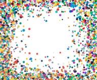 Achtergrond met confettien in rood en groen Royalty-vrije Stock Fotografie