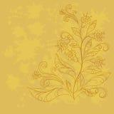 Achtergrond met contouren van bloemen Royalty-vrije Stock Fotografie