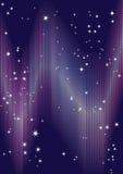Achtergrond met dageraad en sterren. Stock Afbeeldingen